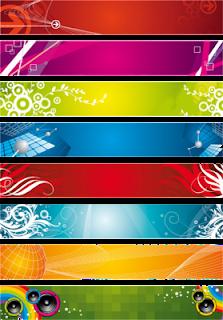 Web sitelerinizin header bannerları için, hazır Psd formatında backgroundları