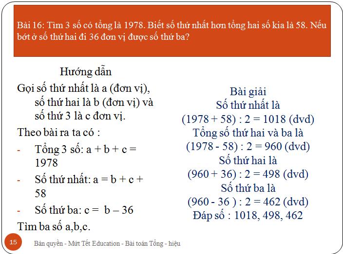 Bài toán tìm hai số khi biết tổng.hiệu(15)