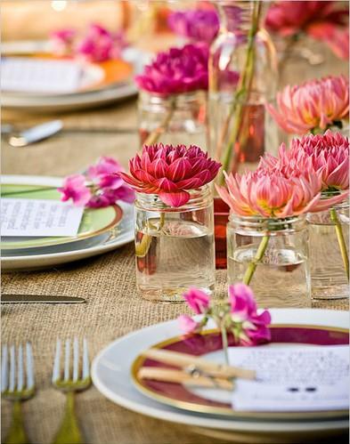 decorazione tavola con fiori