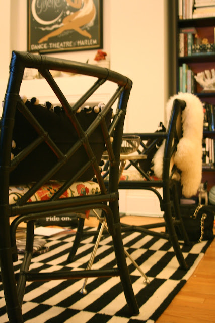 black cane Chippendale chairs before and after, Rebuild Health and Home