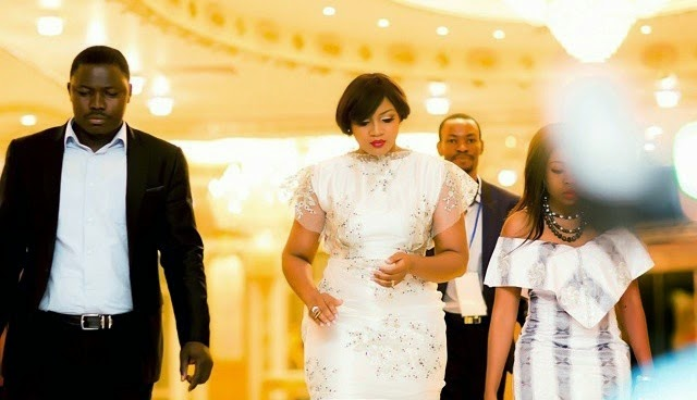 [Photos] Omotola J Ekeinde Celebrates 20th Anniversary In Lavish Ceremony.