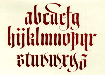 Calligraphy Alphabet Medieval Calligraphy Alphabet
