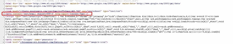 posisi tag meta untuk encoding dokumen