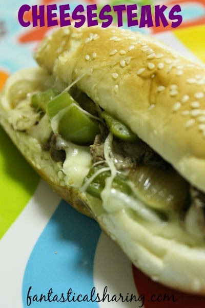 Cheesesteaks | It's a basic cheesesteak, but don't let that fool you - you'll go back for seconds! #recipe #cheesesteak