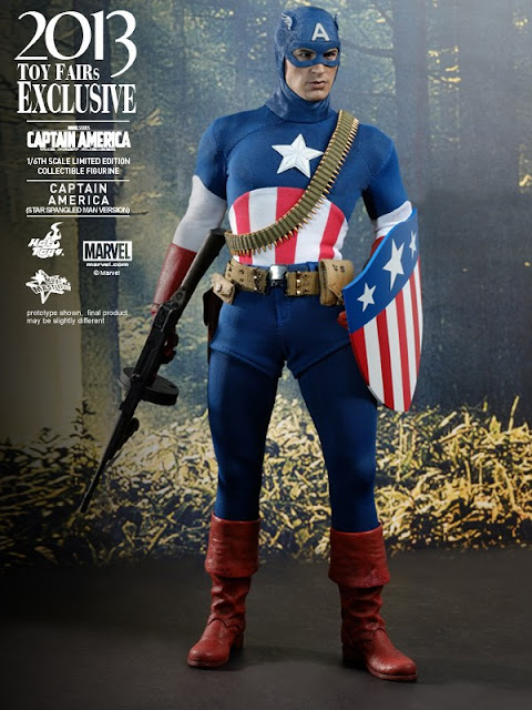 Onesixthscalepictures Hot Toys Captain America Star