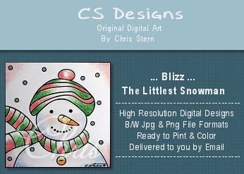Christmas Snowman Digital Stamp