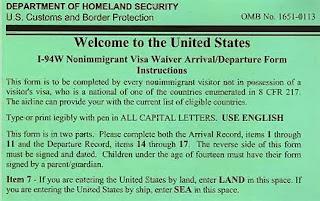American Visa Waiver Scheme