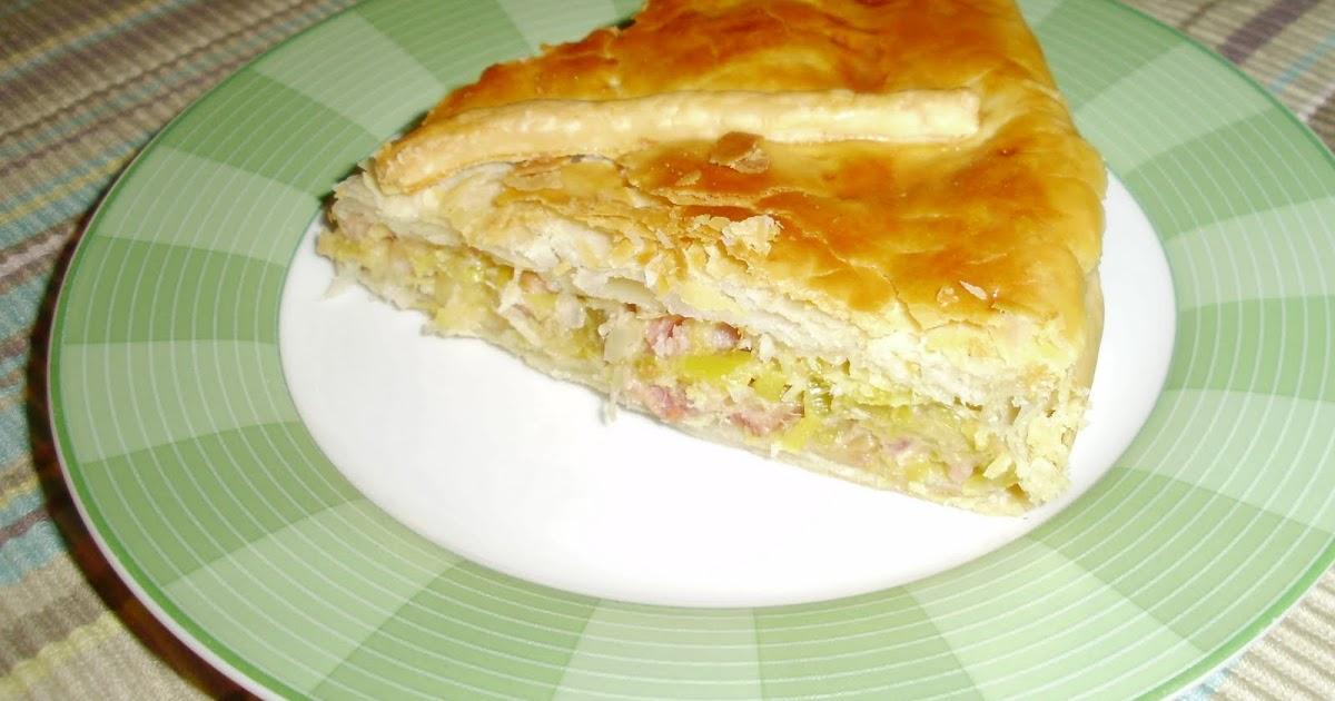 Empanada de hojaldre con puerros y bacon palentina - Hojaldre de puerros y gambas ...
