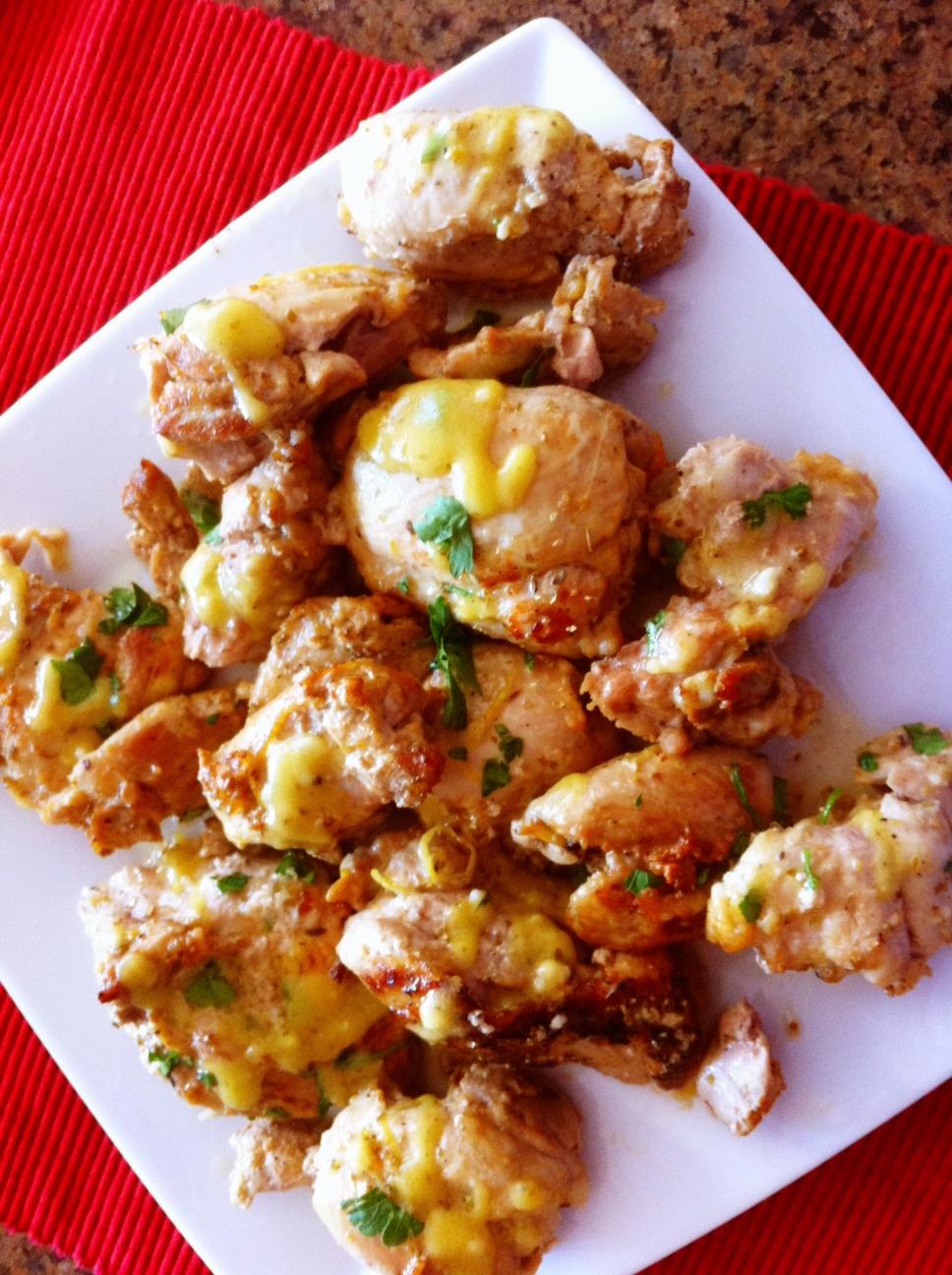 What's Cookin???: Mediterranean Lemon Chicken Thighs
