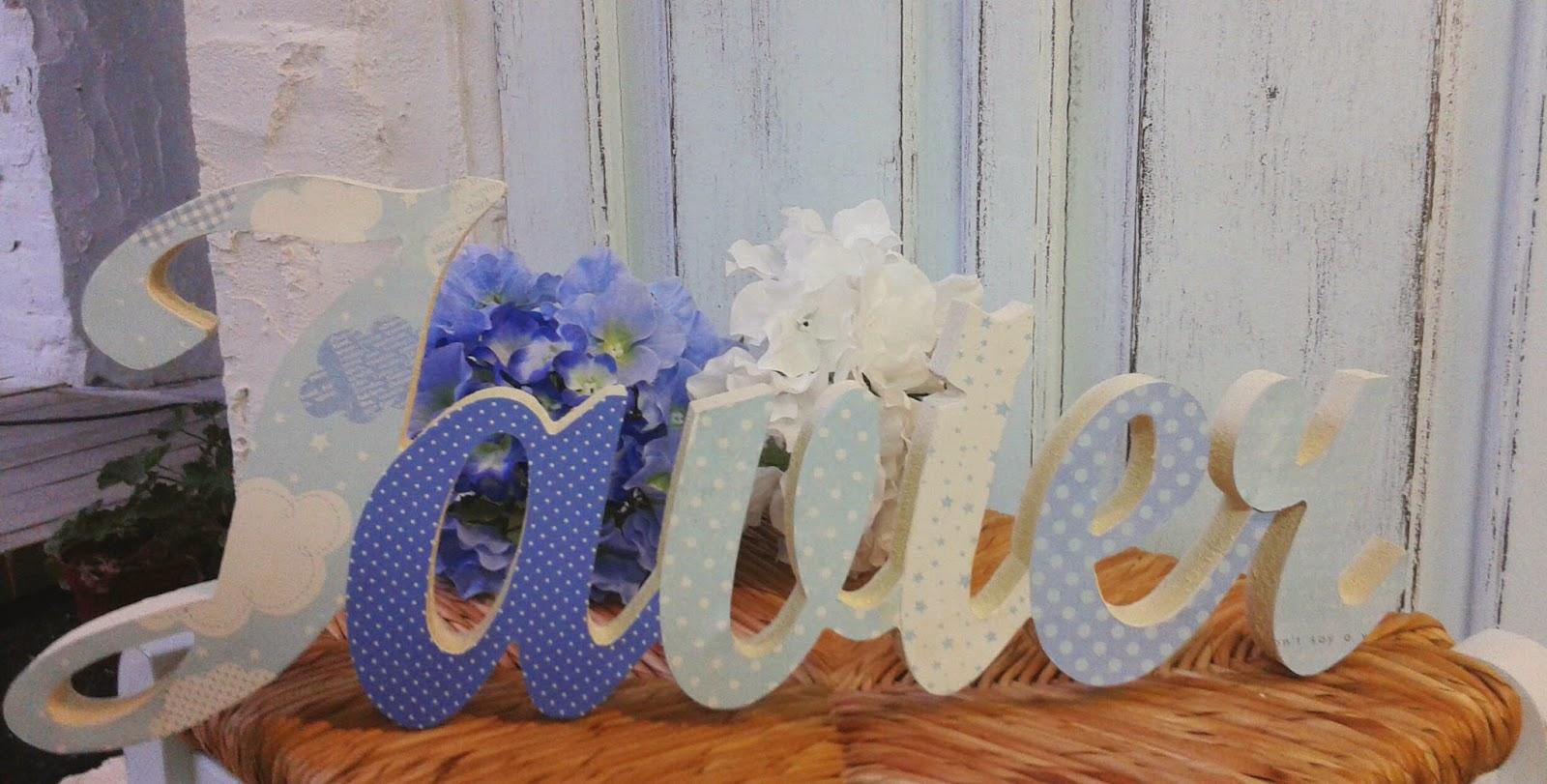 El taller de cayetana letras infantiles con papel scrap para apoyar - Letras decoradas scrap ...
