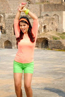 Actress Sharmila Mandre Latest Picture Gallery in Green Shorts 0003.JPG