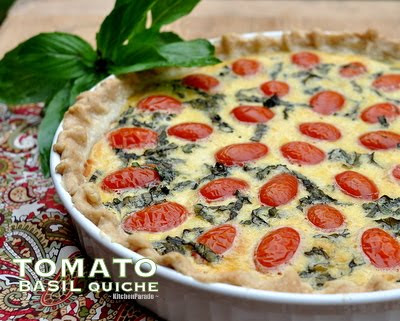 Light Tomato Basil Quiche Recipe