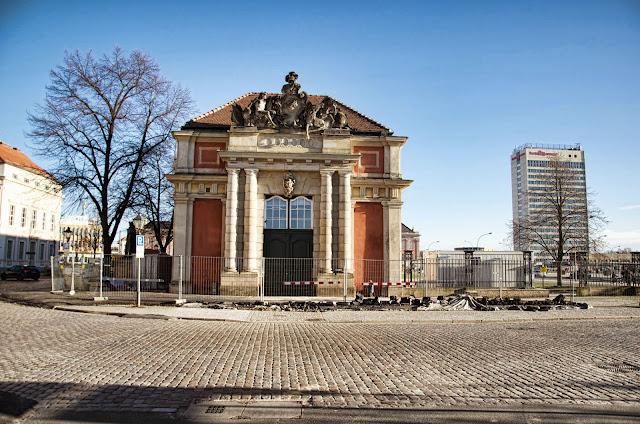 Baustelle Potsdam, Filmmuseum, Breite Straße, Schloßstraße, 14467 Potsdam, 11.01.2014