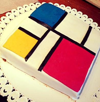 una torta a regola d'arte...torta mondrian