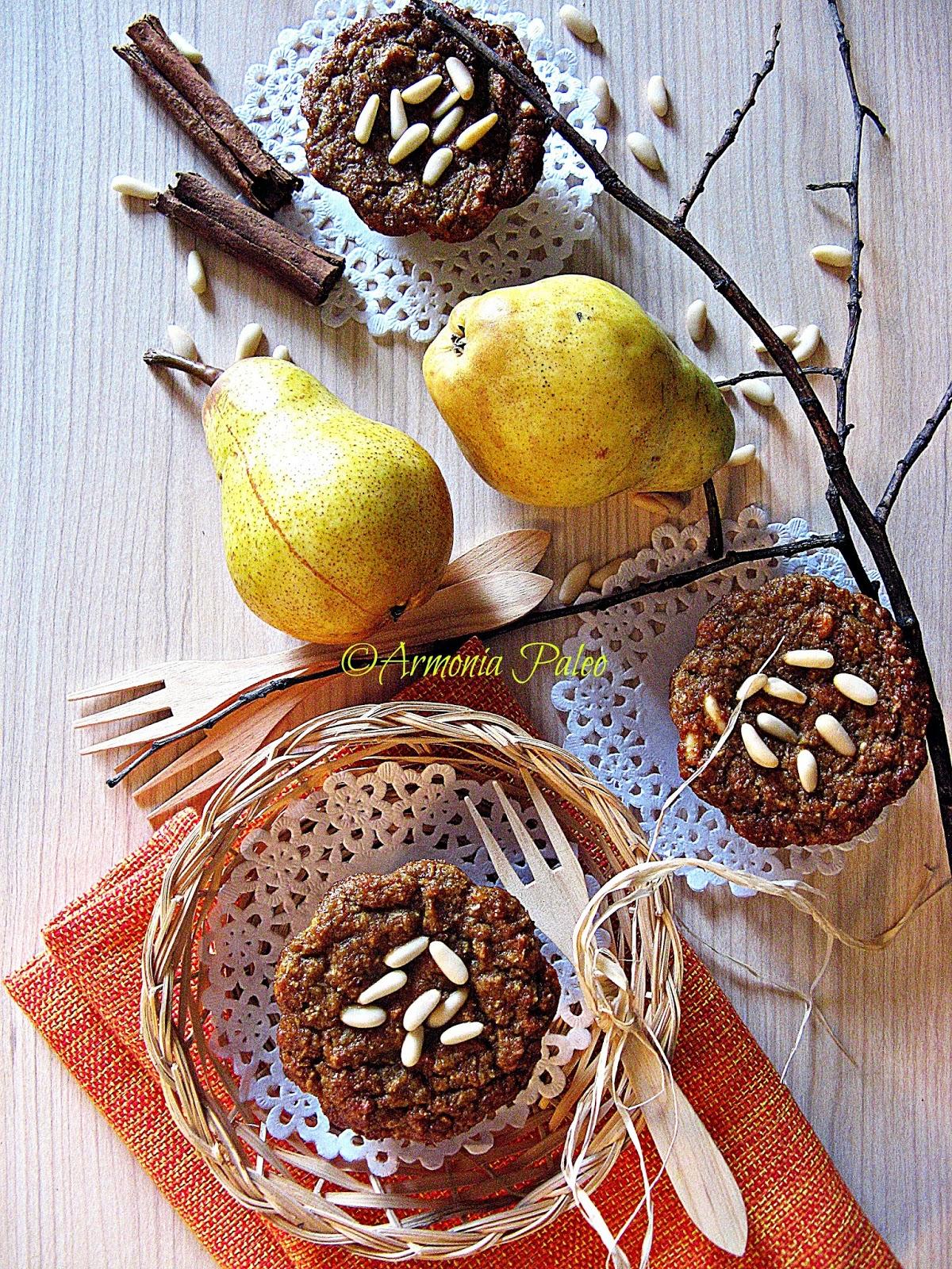 Muffins con Pere e Pinoli di Armonia Paleo