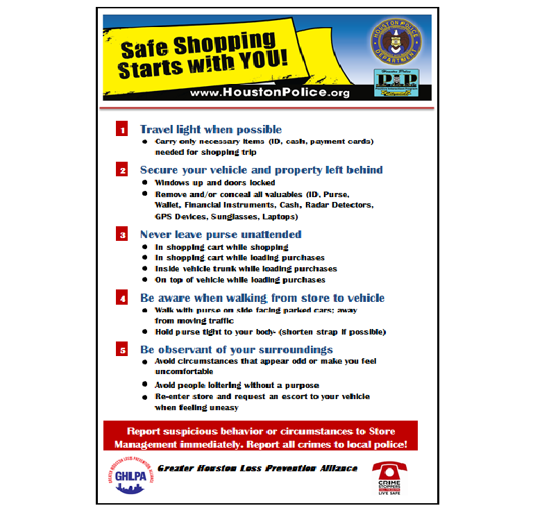 Safe Shopper Tips