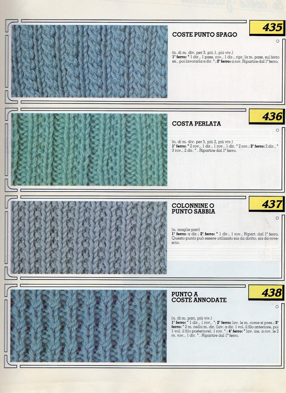 lo spazio di lilla: Collezione punti ai ferri 1 / Knitting ...
