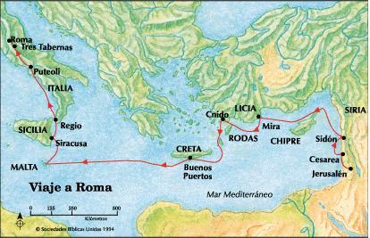M s biblia viajes del ap stol pablo mapas for Cuarto viaje de pablo