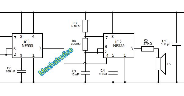 beeping alarm circuit