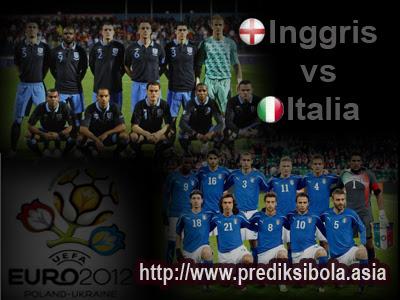 Prediksi Skor Inggris vs Italia 25 Juni 2012