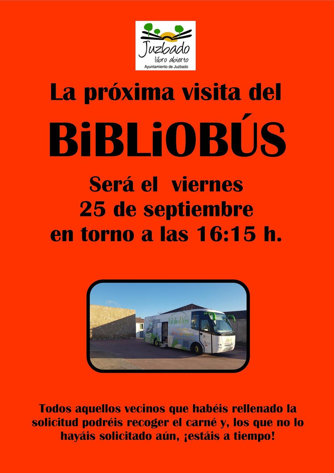 LUNES 25: VISITA BIBLIOBÚS