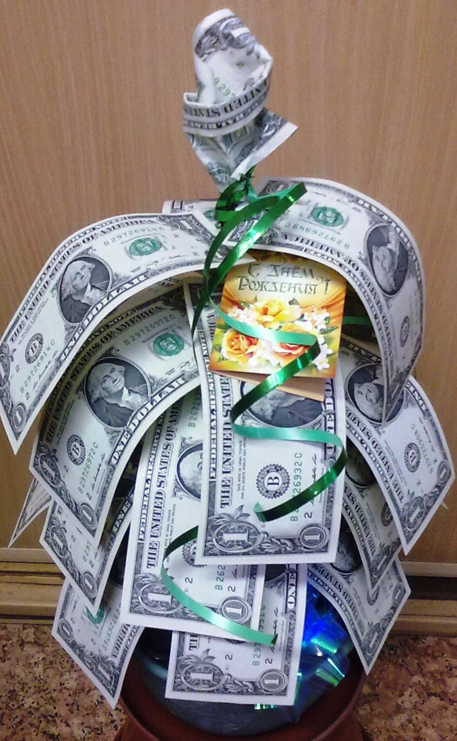 Подарки с денежными купюрами 587