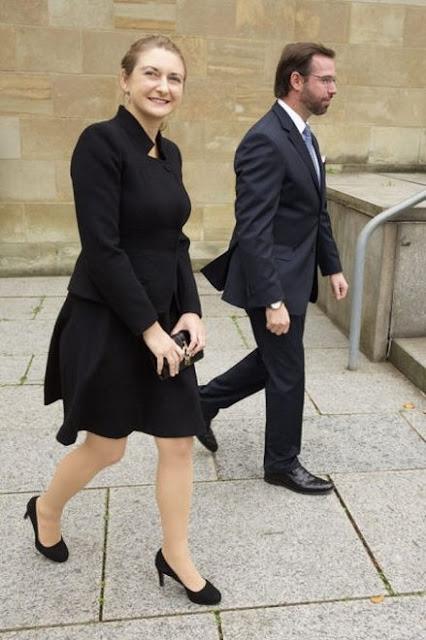 Grand Duke Henri and Grand Duchess Maria Teresa were joined by Hereditary Grand Duke Guillaume, Hereditary Grand Duchess Stéphanie, Archduchess Marie-Astrid and Archduke Carl Christian