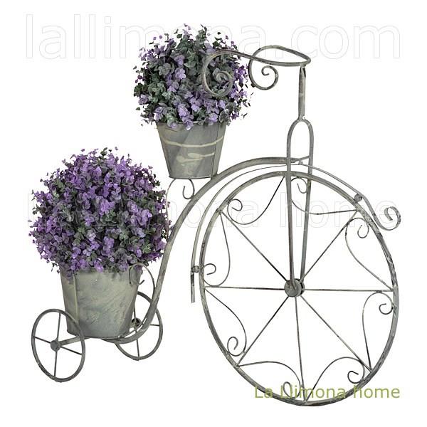 La llimona macetas bicicleta antique metal dos macetas 63 - Bicicleta macetero ...