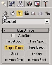3ds max target direct button