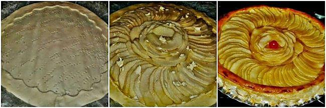Preparación de la tarta flor de manzana