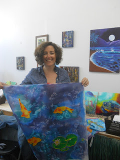 silk painting class Kauai Hawaii