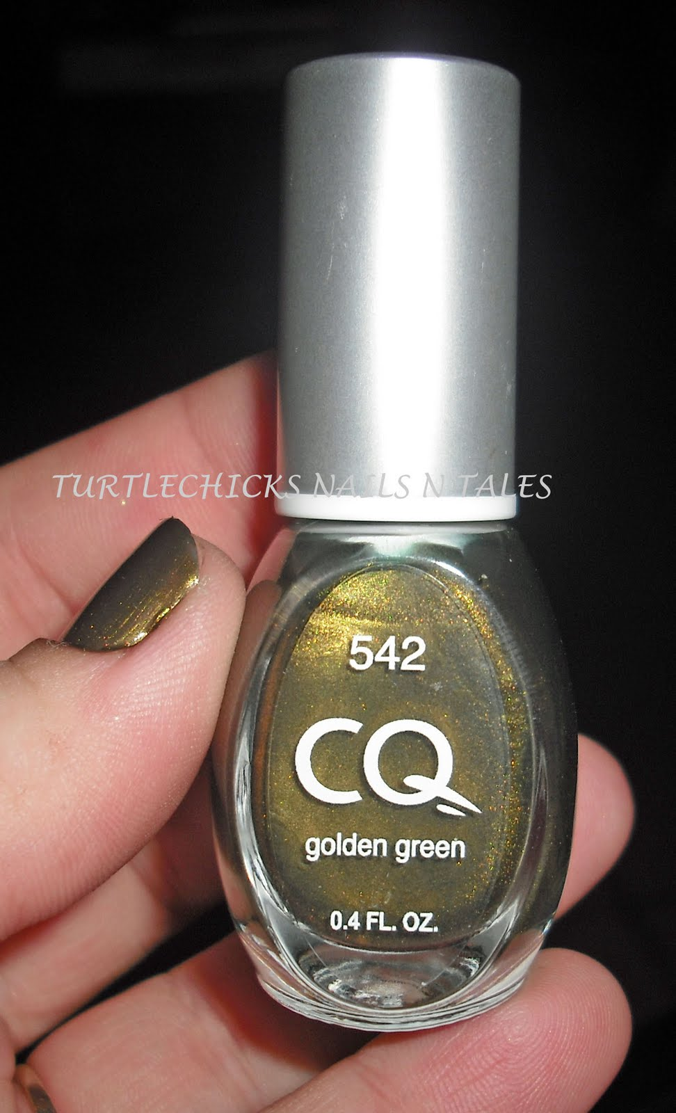 Turtlechick\'s Nails N Tales: CQ Golden Green