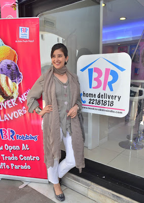 manisha koirala launches new baskin robbins store