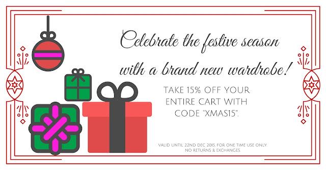 Take 15% off this Christmas!