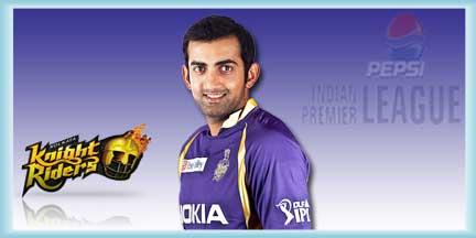 IPL KKR Players Gautam Gambhir Profile and IPL Records Gautam Gambhir IPL Wallpapers