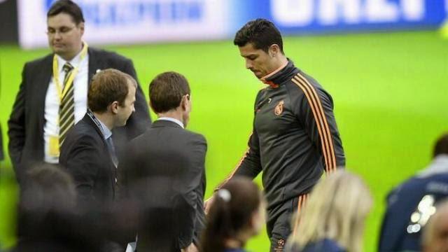 شكوك قوية حول مشاركة رونالدو في مباراة ريال مدريد و دورتموند