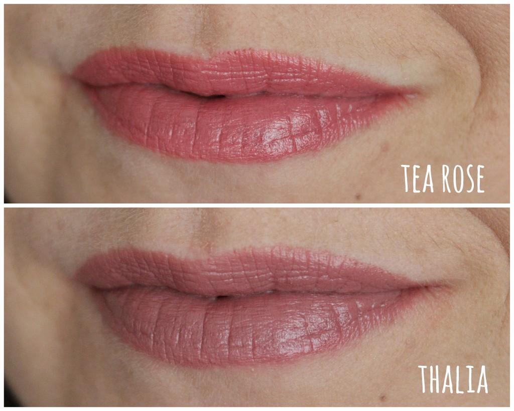 nyx lipsticks tea rose amp thalia neutral perfection