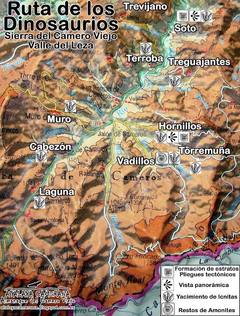 Sierra del Camero Viejo - Valle del Leza: Ruta de los Dinosaurios.