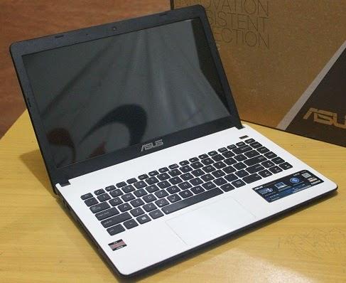 jual laptop seken asus putih fullset