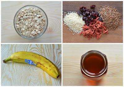Domowe batony musli - składniki