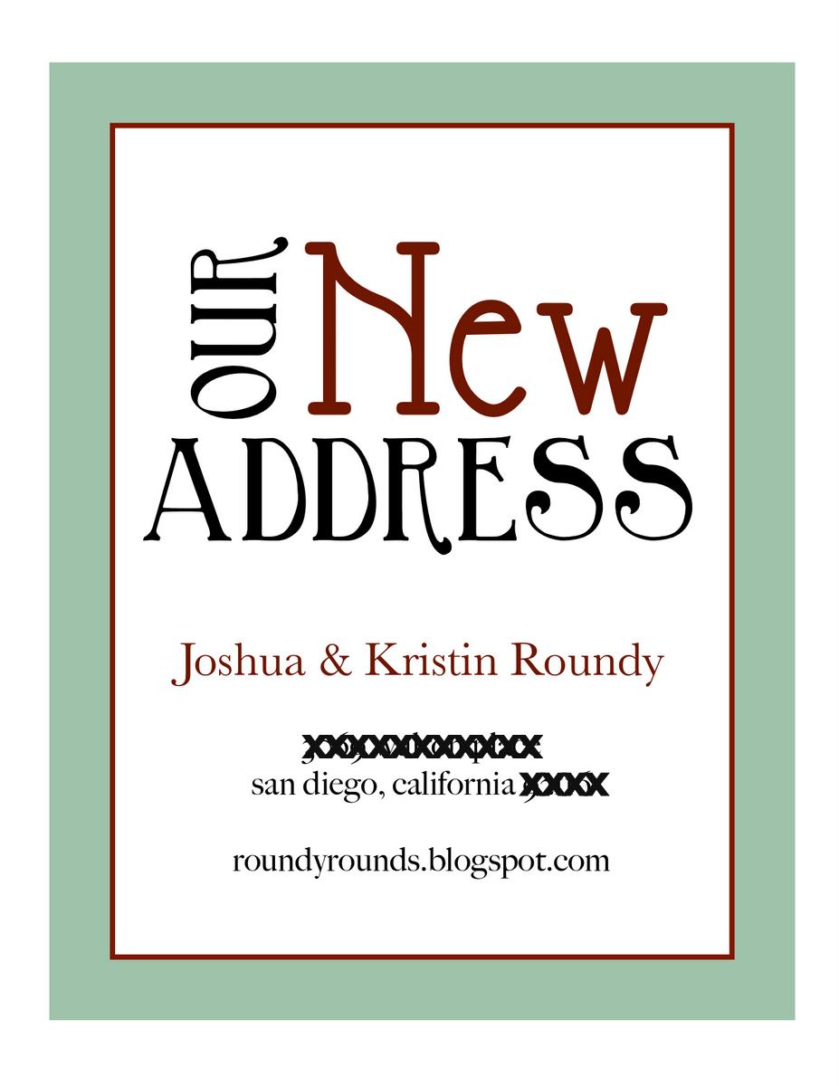New Address Cards Template - New address postcards template