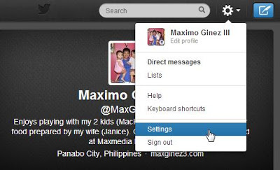 How to Add Twitter Feed Widget on Blogger Procedure 1 by www.maxginez3.com