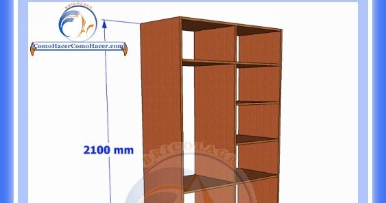 Placard de melamina plano con medidas web del bricolaje for Medidas closets modernos