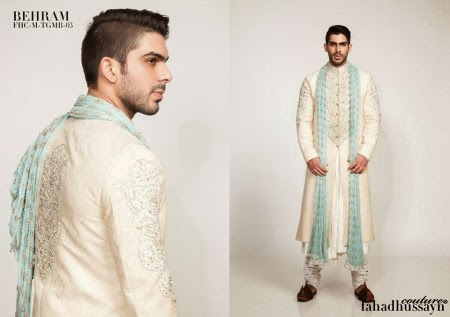 Fahad Hussayn Couture Winter Wedding Sherwani Collection 2014 For Groom