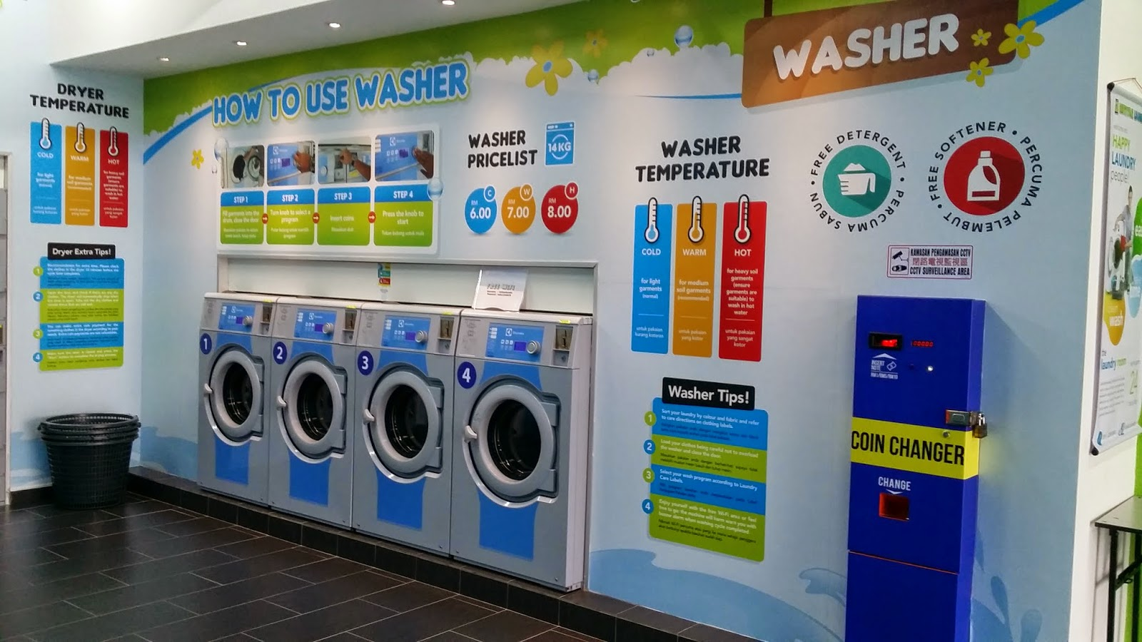 Self Service Laundry ~ Dobi layan diri self service laundry sidec seri