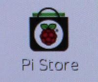 Vous pouvez lancer le Pi Store en cliquant dessus.