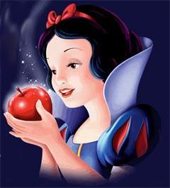 Blancanieves con la manzana envenenada