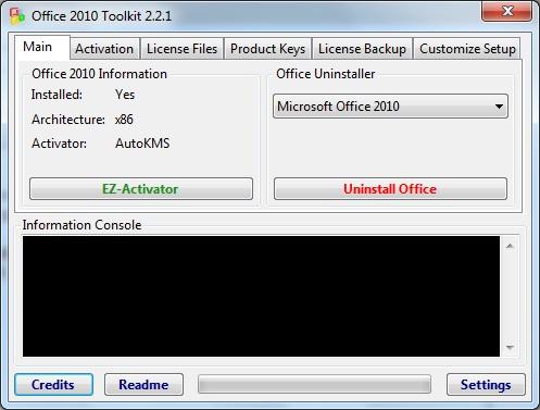 Офис 2010 Toolkit and EZ-Activator - многофункциональный активатор Офис 201