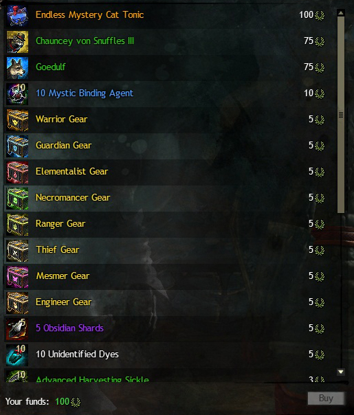 New Guild Wars 2 Achievement Token Rewards