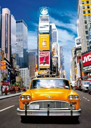 Taxi in Time Square
